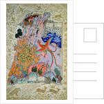 Zal being rescued by the mythical Simurgh by Persian School