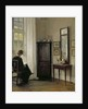 Interior with Woman Reading by Carl Holsoe