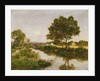 River on the Outskirts of Quimper, 1854-57 by Eugene Louis Boudin