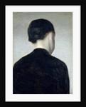 Seated Figure, Seen from Behind 1884 by Vilhelm Hammershoi
