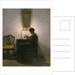 Woman reading by candlelight, 1908 by Peter Vilhelm Ilsted