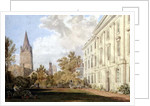 View of Christ Church Cathedral and the Garden and Fellows' Building of Corpus Christi College, Oxford by William Turner