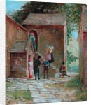 View of the Yard with Figures, Kilnhurst, Todmorden, c.1860 by Alfred Walter Bayes