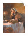 Portrait of an Old Woman Reading the Bible by Candlelight, 1896 by Arthur Netherwood