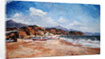 Beach and Mountains, Nerja by Christopher Glanville