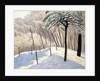 Snowy Landscape in Bois de Boulogne; Paysage de neige au Bois de Boulogne, 1905 by Felix Edouard Vallotton