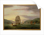 A Frigate, A Lugger And Merchant Ship In Dartmouth Harbour, 1808 by Thomas Luny
