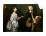 A Group Portrait of John Perceval, 1st Earl of Egmont and his Wife Catherine by J. Alberry