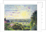 Sunset at Eragny, 1891 by Camille Pissarro