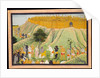 Rama and Lakshmana in Counsel with the Monkey and Bear Allies, c.1800 by School Pahari