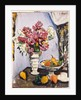 Summer Blossom and a Bowl of Fruit, with a Cup and Saucer by George Leslie Hunter