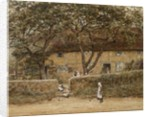 Children Outside a Cottage by Helen Allingham