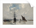 Ships on the Thames by Frank Myers Boggs