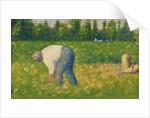 Peasant Working by Georges Pierre Seurat
