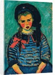 Girl with a Red Bow by Alexej von Jawlensky
