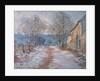 Snow in Limetz by Claude Monet