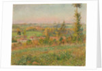 The Hills of Thierceville Seen from the Country Lane, Vicinity of Eragny by Camille Pissarro