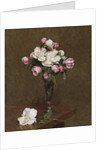 Pink and White Roses in a Champagne Flute, 1874 by Ignace Henri Jean Fantin-Latour