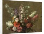 Delphiniums by Ignace Henri Jean Fantin-Latour
