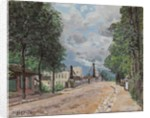 The Road of Gennevilliers by Alfred Sisley