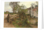 Exit of the Herd of Chailly Street by Leon Augustin Lhermitte