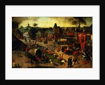 A Carnival on the Feast Day of St. George in a village near Antwerp by Abel Grimmer or Grimer