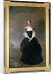 Portrait of a lady, member of the Dundas family, in a black velvet dress with lace sleeves by Dutch School