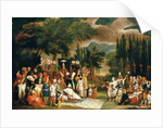 The hunting party of Sultan Ahmed III by Jean Baptiste Vanmour