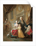 Portrait of a family in an interior by Francois de Troy