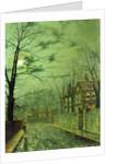 A Moonlit Road by John Atkinson Grimshaw