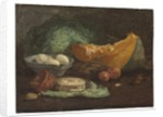 Still life with eggs and pumpkin, c.1853-56 by Eugene Louis Boudin