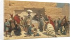 Lunch at foot of pyramids, Gizeh by Franz Vinck