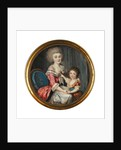 A young lady called Madame de Genlis, embracing her young son by Louis-Andre Fabre