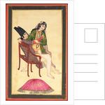 Erotic drawing by School Qajar