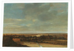 An extensive dune landscape with a farmhouse and a bleaching ground by Jan Vermeer van Haarlem