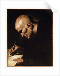 A Monk Scribe by Master of the Annunciation to the Shepherds