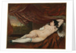 Reclining female nude, 1862 by Gustave Courbet