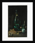 Still life with bottle and glass by John Decker