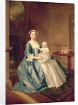 Portrait of a lady of the Lister family and Child by Arthur Devis