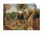 Mealtime in the country by Pieter the Younger Brueghel