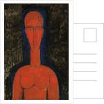 Red Bust, Caryatid, 1913 by Amedeo Modigliani