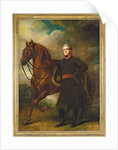 Portrait of Alexander Douglas-Hamilton, 10th Duke of Hamilton and 7th Duke of Brandon, full-length, in uniform, with his Arabian charger, in a landscape by Henry Raeburn