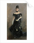 Woman in Black or Before the Theatre, 1875 by Berthe Morisot
