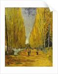 L'Allee des Alyscamps, Arles, 1888 by Vincent van Gogh