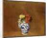 Geraniums and other Flowers in a Stoneware Vase by Odilon Redon