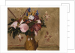 Flowers in a Vase, copy after a painting by Cezanne, c.1886 by Odilon Redon