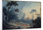 A Wooded Landscape with Buildings in the Distance by Francois Boucher