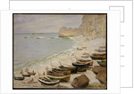 Boats on the Beach at Etretat, 1883 by Claude Monet