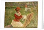 Blanche Hoschede Painting, 1892 by Claude Monet