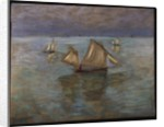 Fishing Boats at Pourville, 1882 by Claude Monet